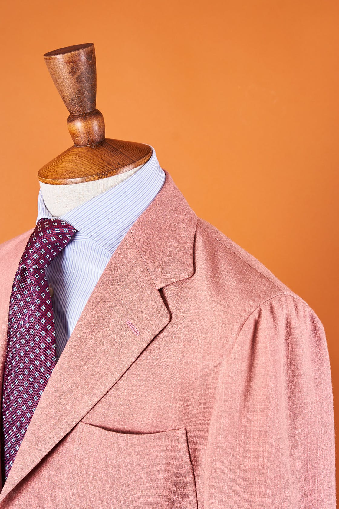 Ring Jacket Model 7 Pink Wool/Silk/Linen Sport Coat *sample*