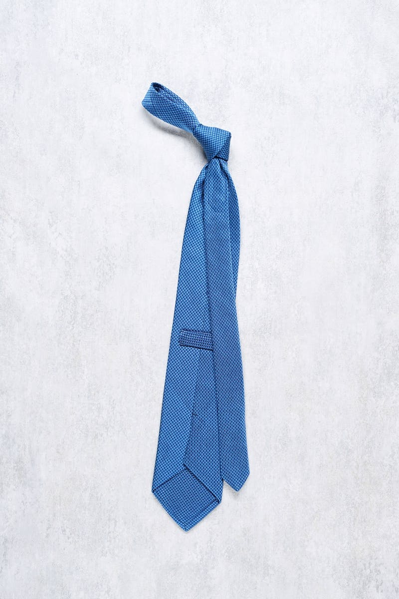 Francesco Smalto Blue Silk Tie