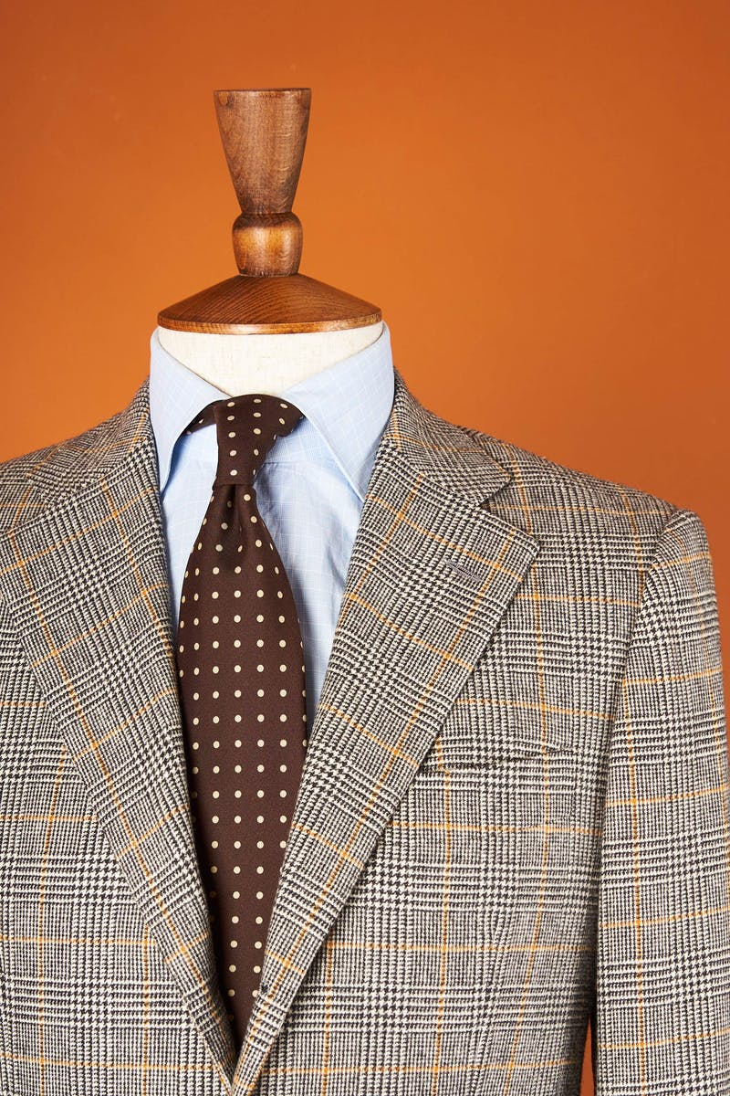 Sartoria Grey with Orange Check Wool Sport Coat