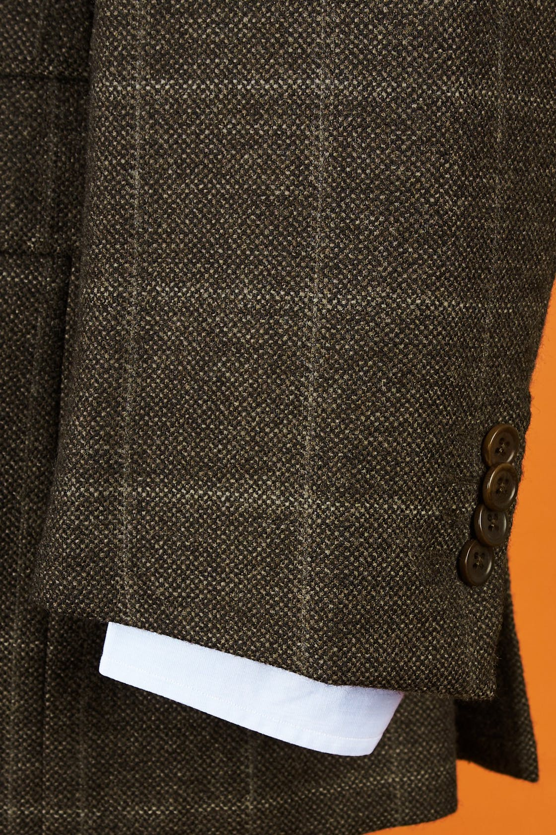 Sartoria Partenopea Brown Check Wool Sport Coat