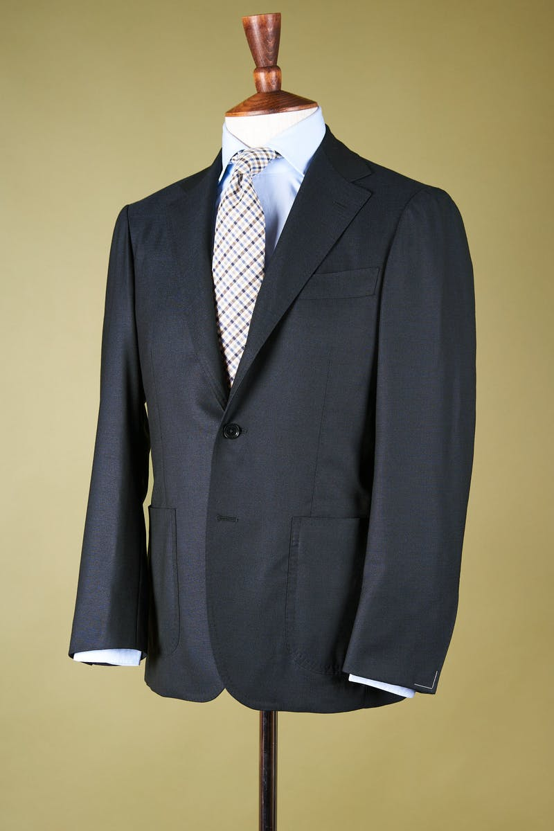 Ring Jacket 269F Navy Wool Silk Sport Coat