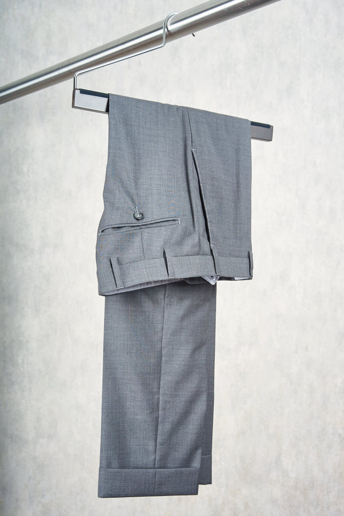 Zanella Grey Wool Trousers