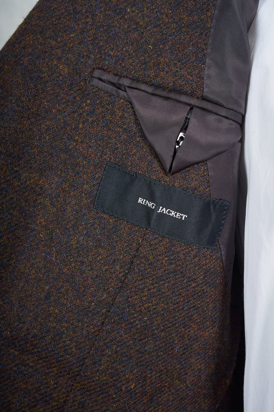 Ring Jacket AMJ03 Dark Brown Moon Wool Sport Coat