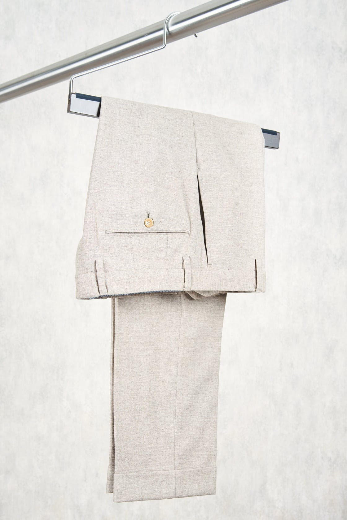 Ring Jacket Light Brown Wool Trousers