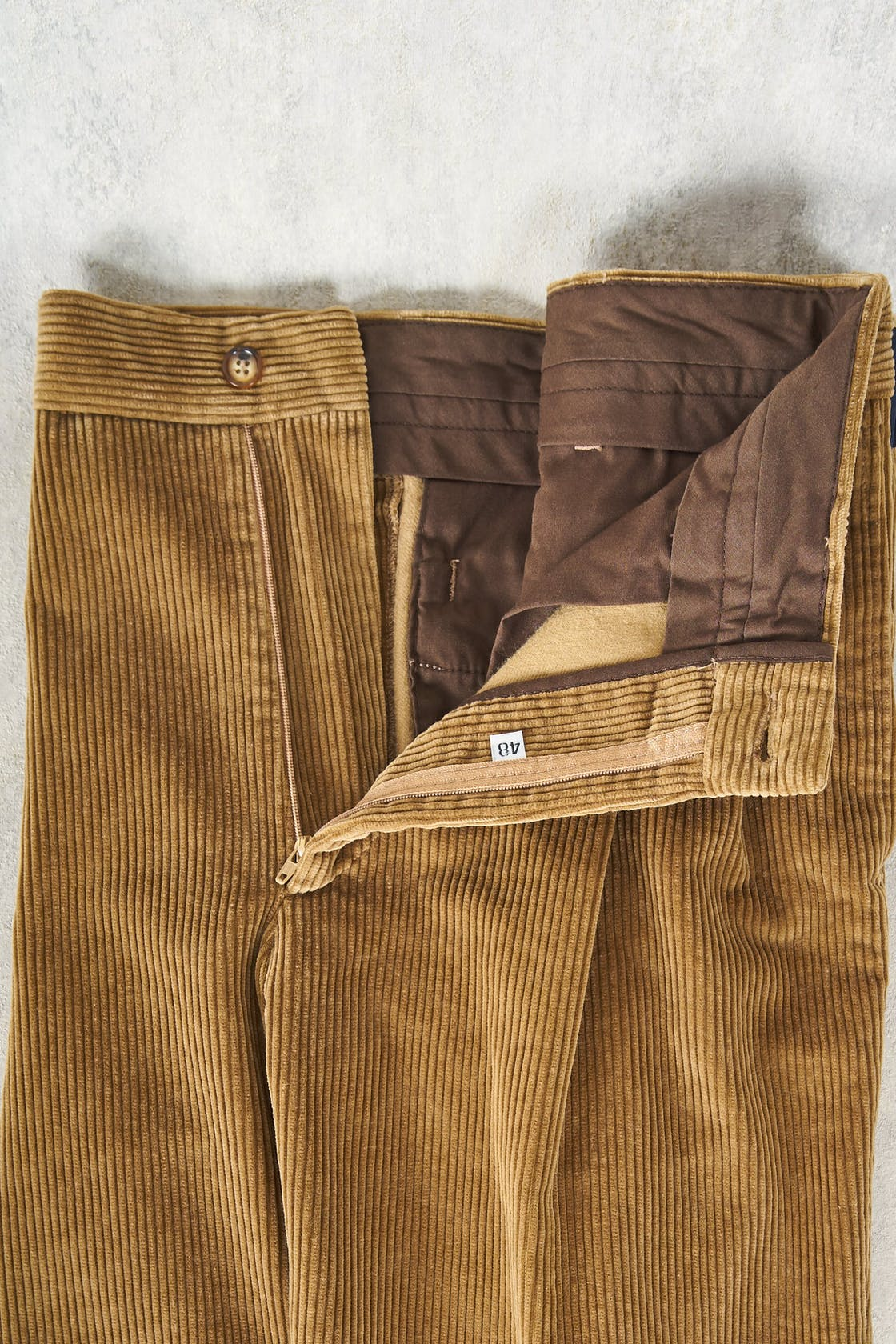 Rota Khaki Corduroy Cotton Trousers