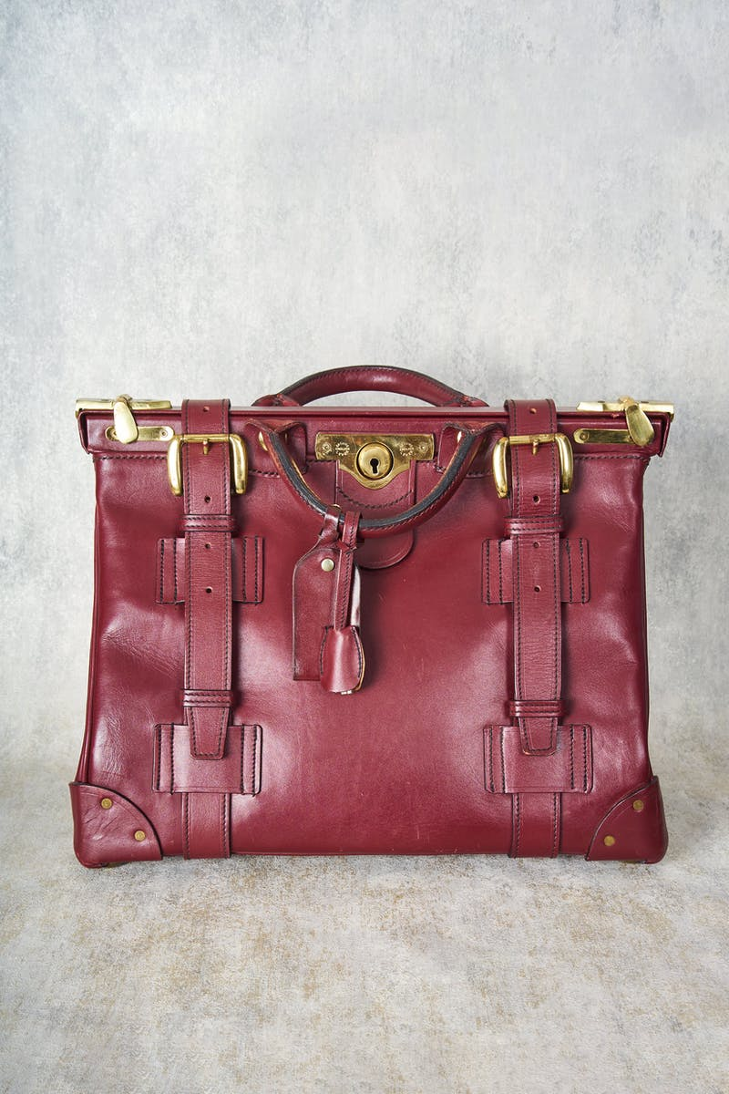 Swaine Adeney Wine Gladstone Leather Bag