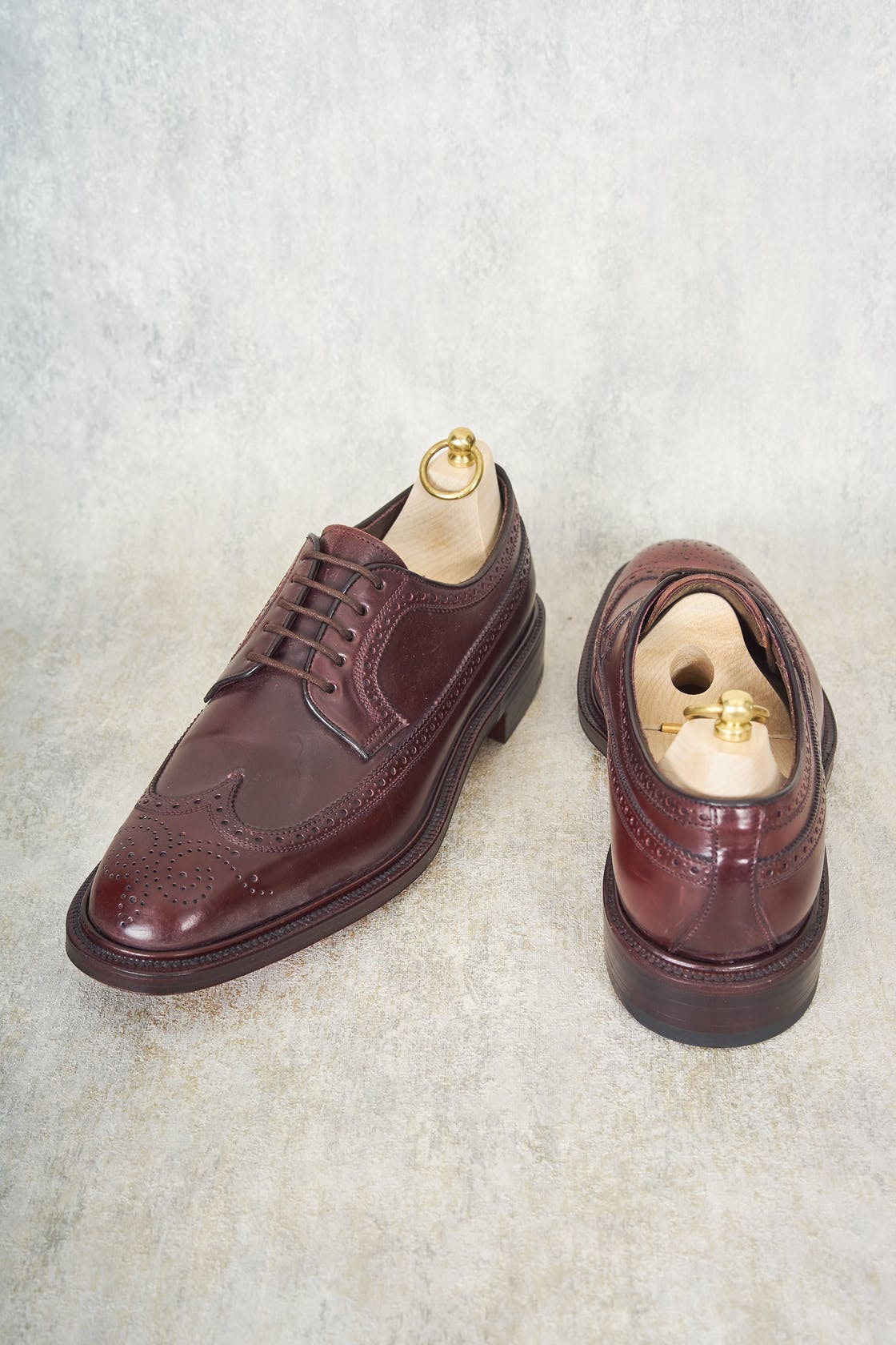 Carmina Detroit 532 Burgundy Cordovan Long Wing Shoes