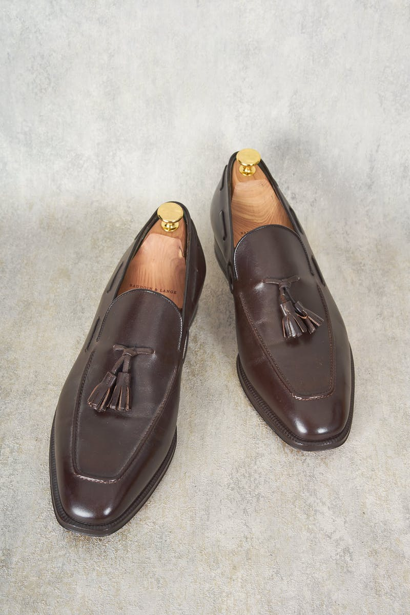 Enzo Bonafe 1851 Dark Brown Tassel Loafer
